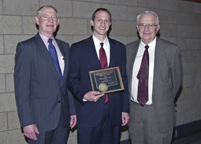 Dr. Jesse Dana receives the Young Alumni Award