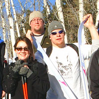 Outdoor Education group - skiing adventure