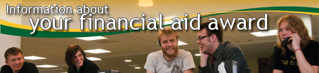 Information about your financial aid award