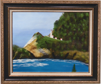 Heceta Lighthouse oil painting