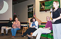 Panel of experts presents at Take Back the Night event