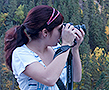 BHSU student photographer in the Black Hills