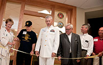 Ribbon-cutting ceremony for Vets Center