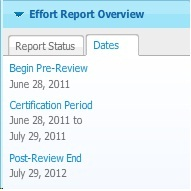 Report Overview Dates