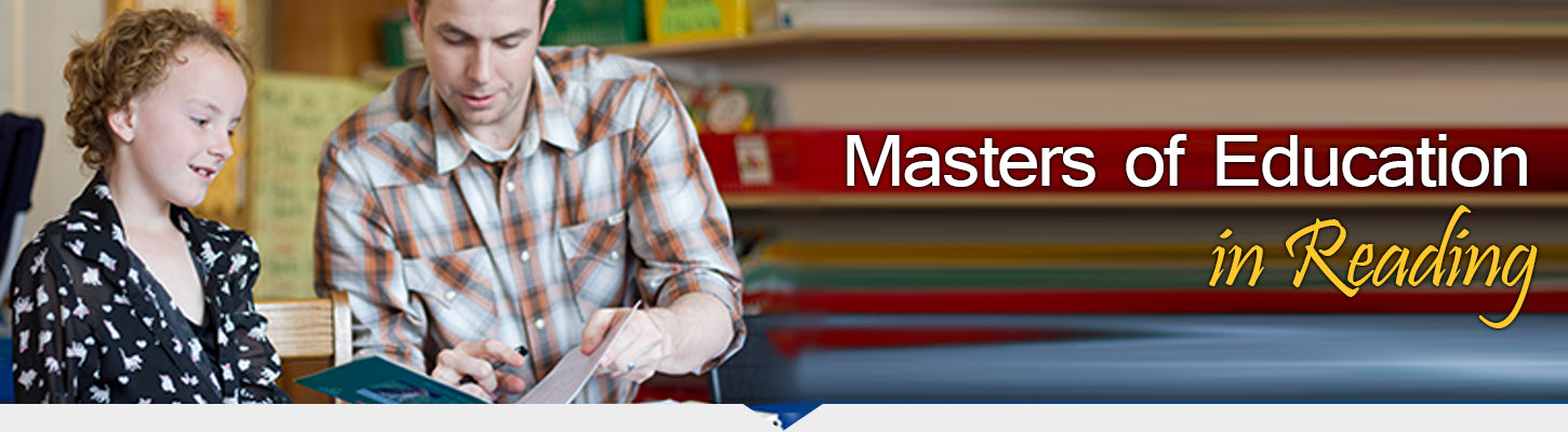 Earn your masters degree in reading.