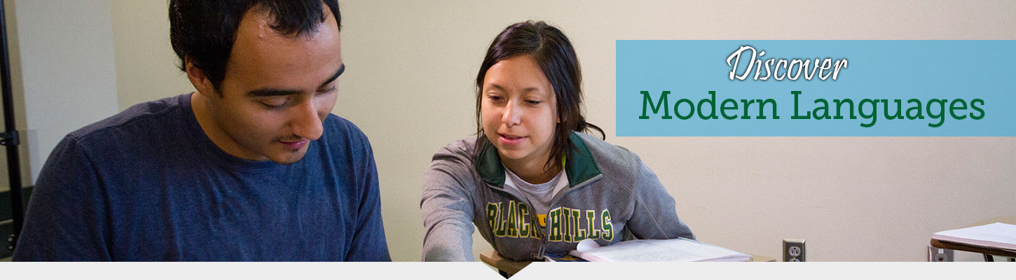 Learn French, German, Lakota, Spanish and Russian at Black Hills State University.