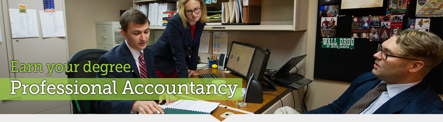 Start your career with a degree in Professional Accountancy.