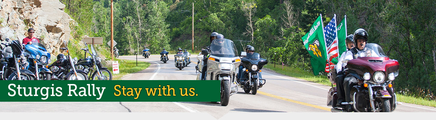 Stay at Black Hills State University during the Sturgis Motorcycle Rally.