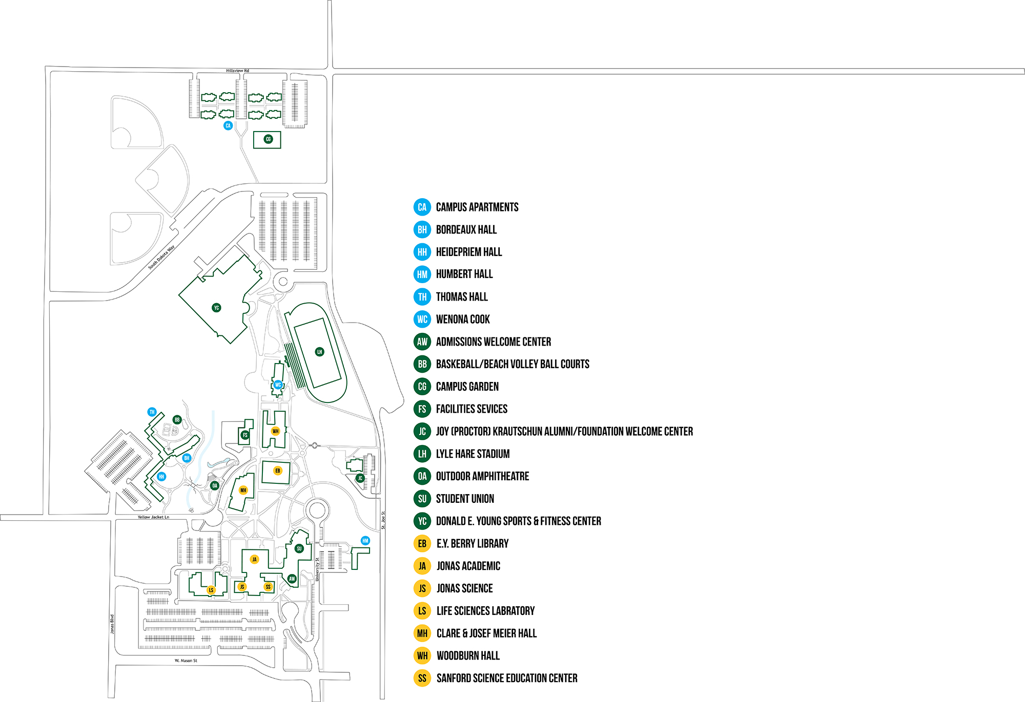 Sustainability Map of BHSU