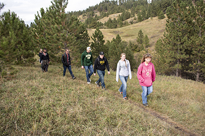 Students Hiking the H