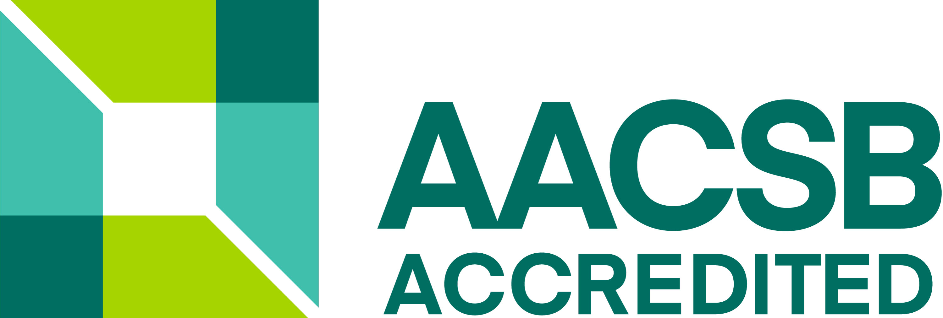 The Logo for AACSB