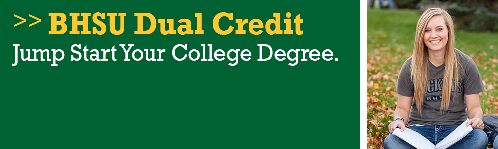Learn more about earning college credits while in high school through our Dual Credit courses.