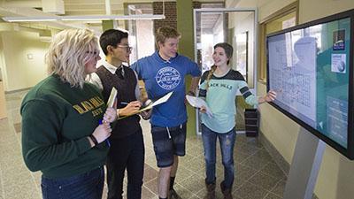 BHSU Sanford Science Education Center students.