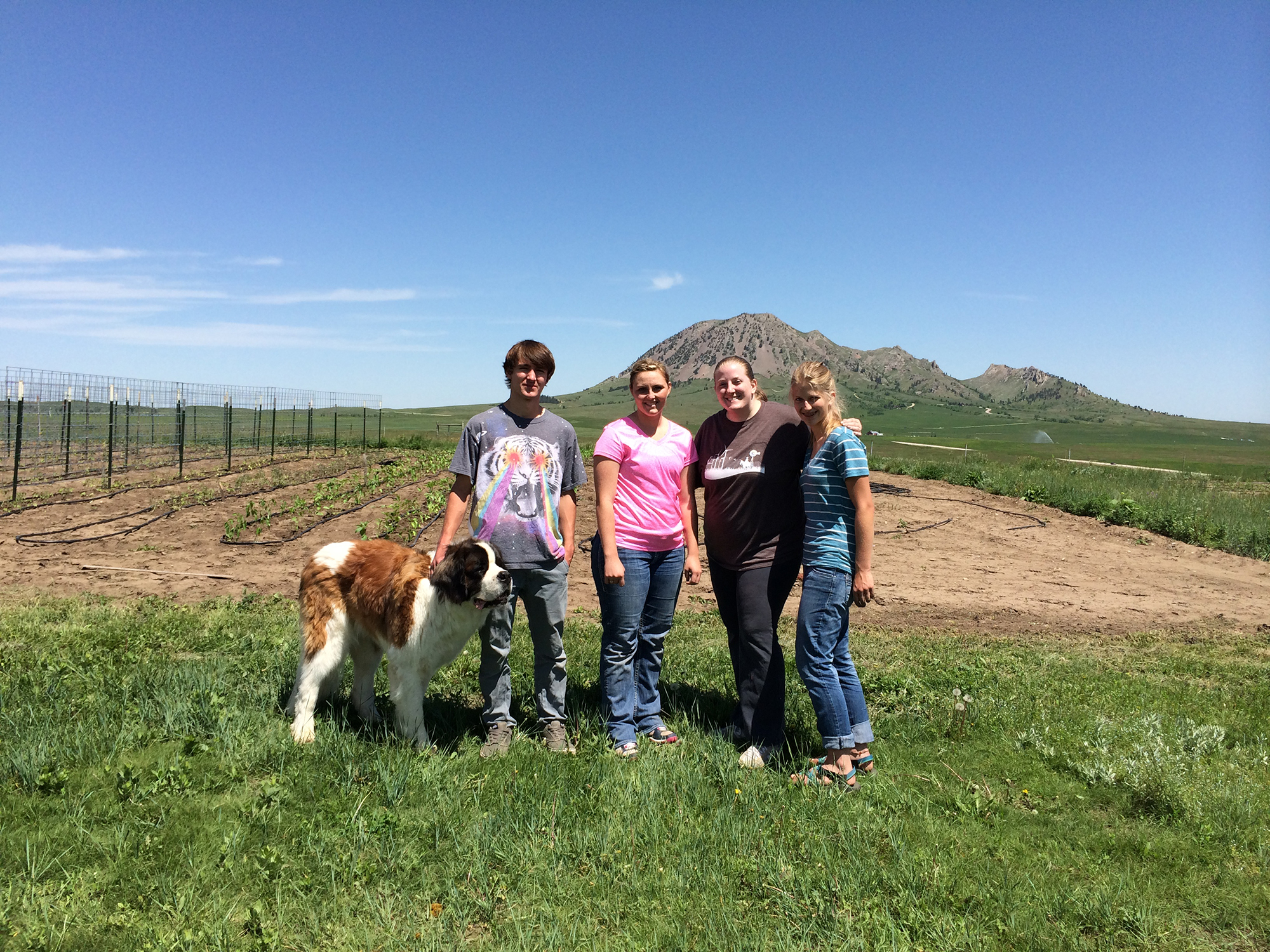 College Students hanging out in Bear Butte